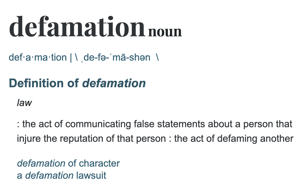 Defamation defined