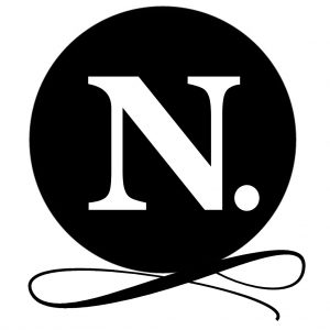 Black logo with initial no text with period close  300x300
