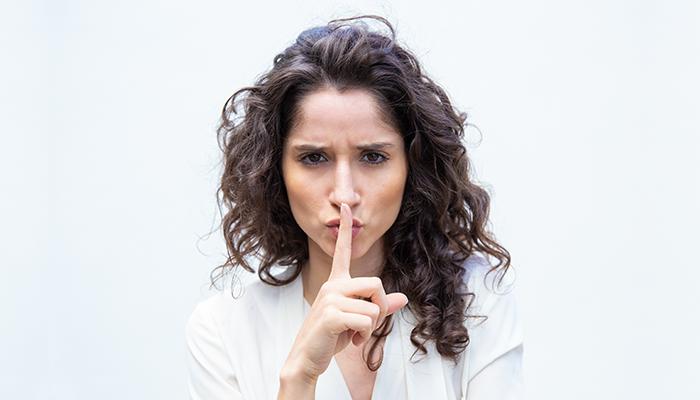 Woman Shhh