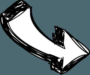 Arrow sketch with curve