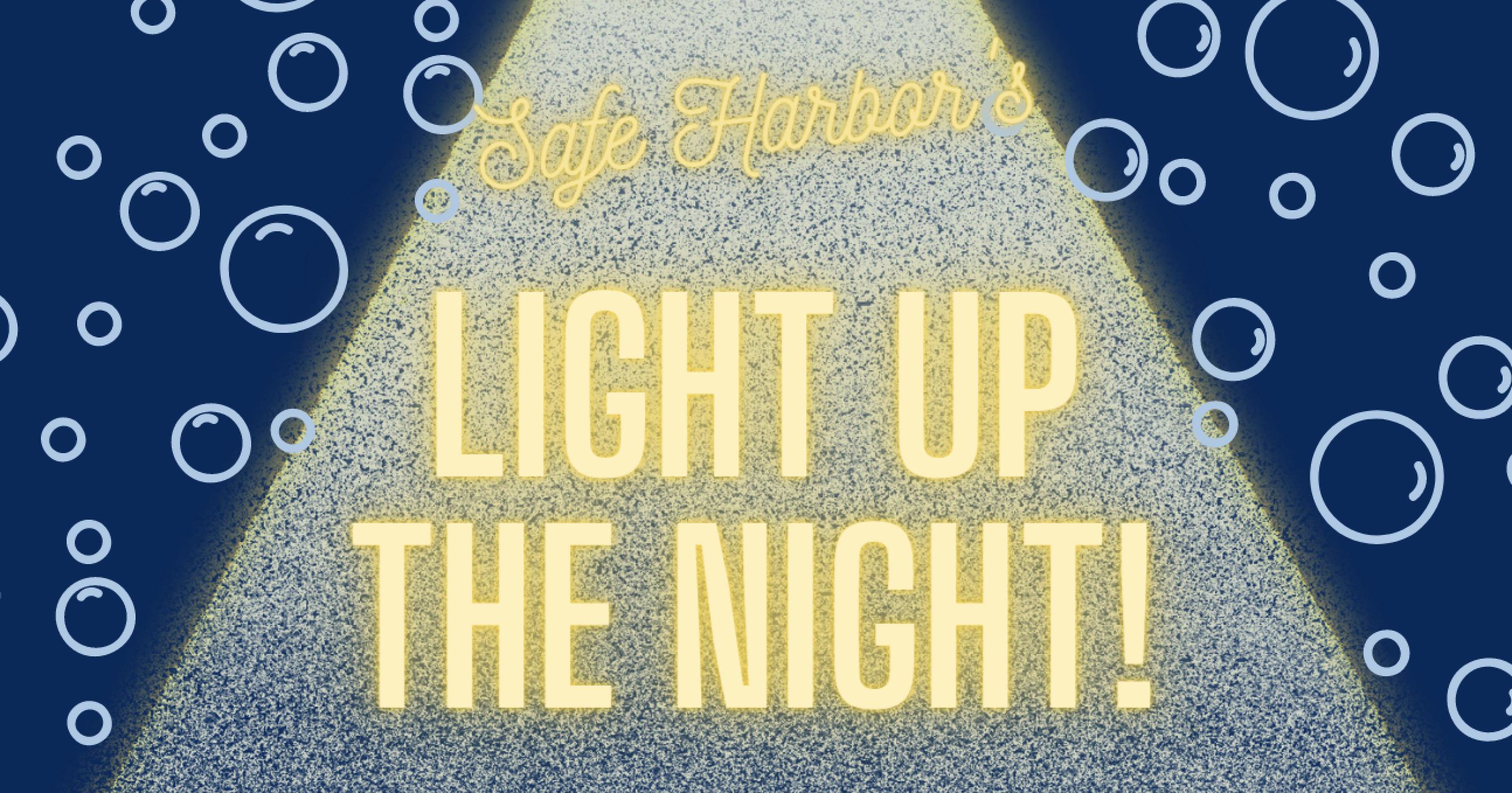Safe Harbor's Light Up The Night banner